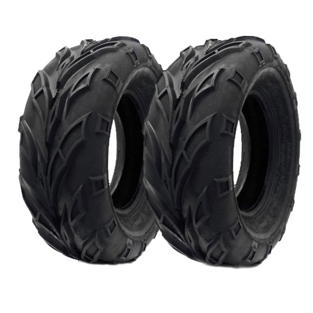 SET OF TWO: ATV Tubeless Tire 21x7-10 (175/80-10) Front or Rear All Terrain ATV UTV Go Kart - P133 by MMG (Image #1)