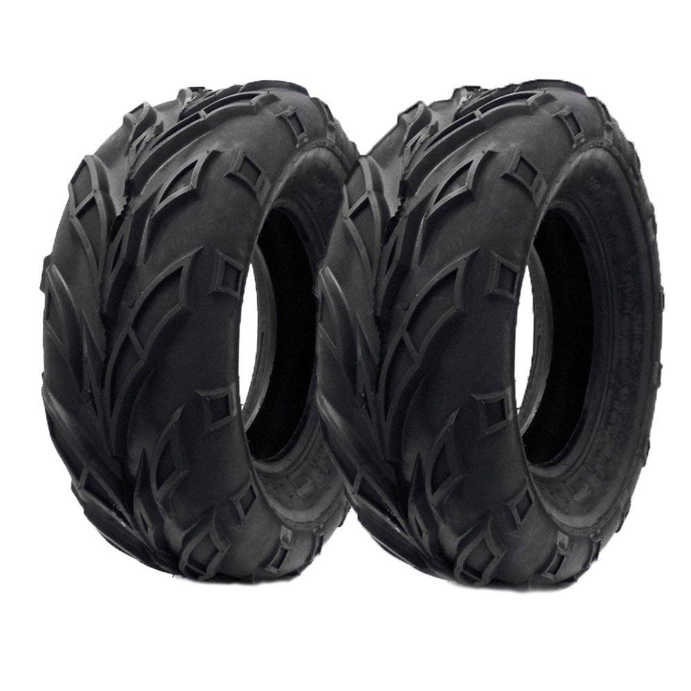 SET OF TWO: ATV Tubeless Tire 21x7-10 (175/80-10) Front or Rear All Terrain ATV UTV Go Kart - P133