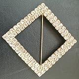 100pcs Metal pin brooch rhinestone for wedding events DIY, chair band/bow/hood/sash buckle