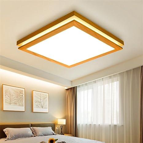 Larsure Estilo Vintage Modern Iluminación de techo plafones de luz LED lámpara de techo de madera