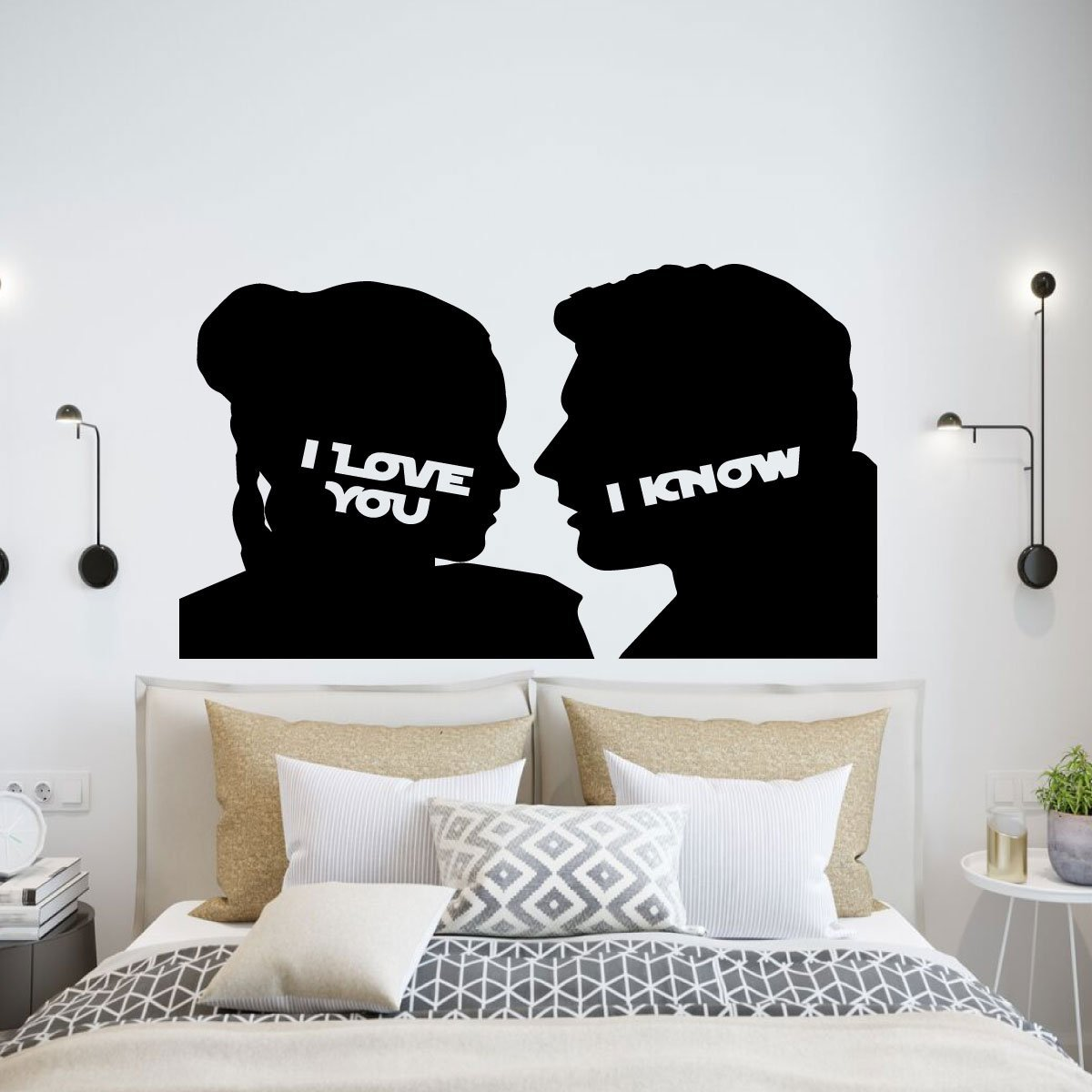 I love you I know Set of 2 Printable Over the bed His and Hers ...