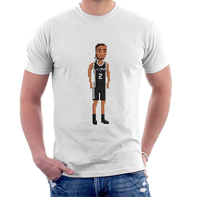 Kawhi Leonard San Antonio Spurs NBA Pixel Mens T-Shirt