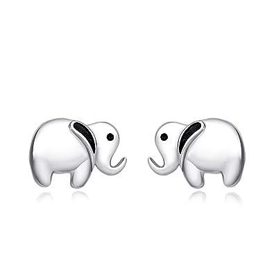 d3a654f7f8cd 925 Sterling Silber Elefant Ohrstecker Schmuck Geschenk für Mädchen,  Frauen  Amazon.de  Schmuck