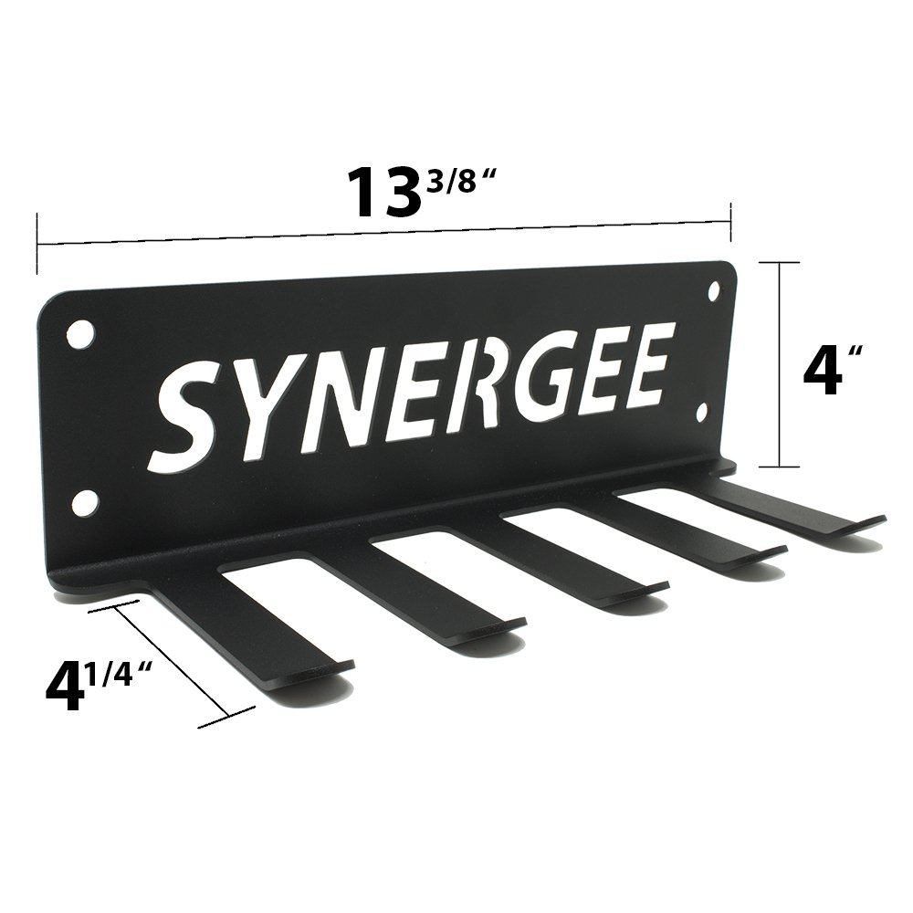 Synergee Accessory Rack for Mini Bands - Five Pegs to Organize Resistance Loops for Strength & Core Conditioning