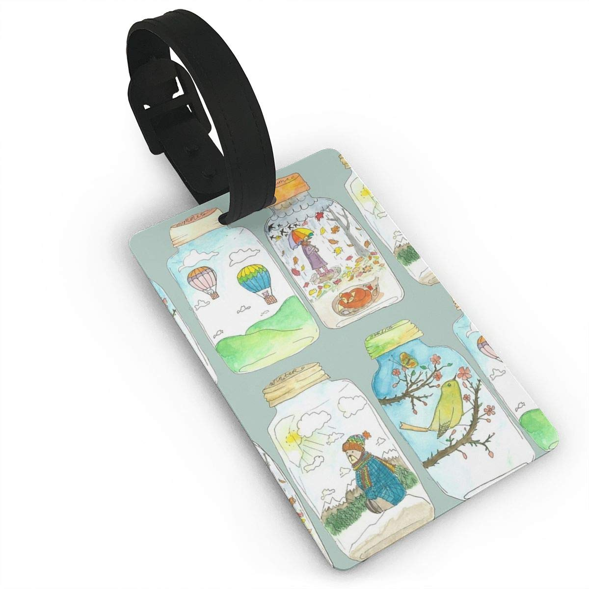 Set of 2 Season In The Jar Luggage Tags Suitcase Labels Bag Travel Accessories