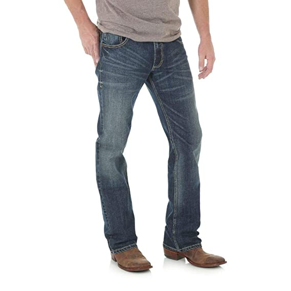 Wrangler Mens Tall Retro Slim Fit Boot Cut Jean