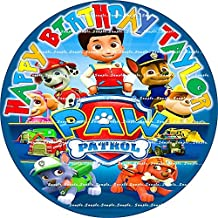 PAW PATROL : ROUND Personalized edible image Birthday Cake topper premium frosting sheets