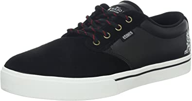 New Hommes Etnies Jameson Noir Toile Baskets Skate Lacets