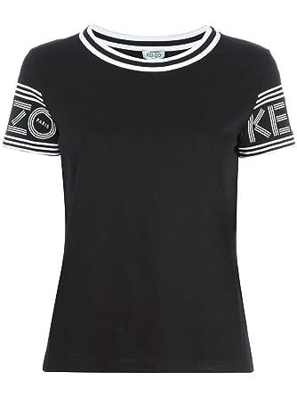 5f8dc5dc4 Kenzo Women's F752TS79398599 White/Black Cotton T-Shirt: Amazon.co.uk:  Clothing