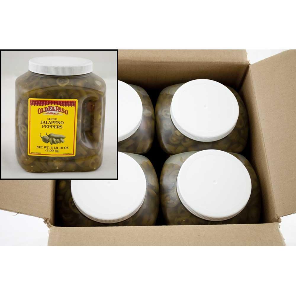 Old El Paso Sliced Jalapeno Peppers - 106 oz. jug, 4 jugs per case