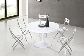 Table à Manger Ronde Design Blanche - Isola: Amazon.fr: Cuisine & Maison