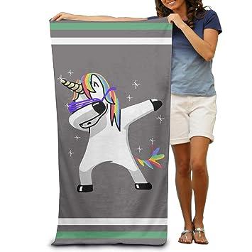 Wolopo Toallas de baño de unicornio para la playa, toallas de piscina, para adultos, suaves y absorbentes.: Amazon.es: Hogar