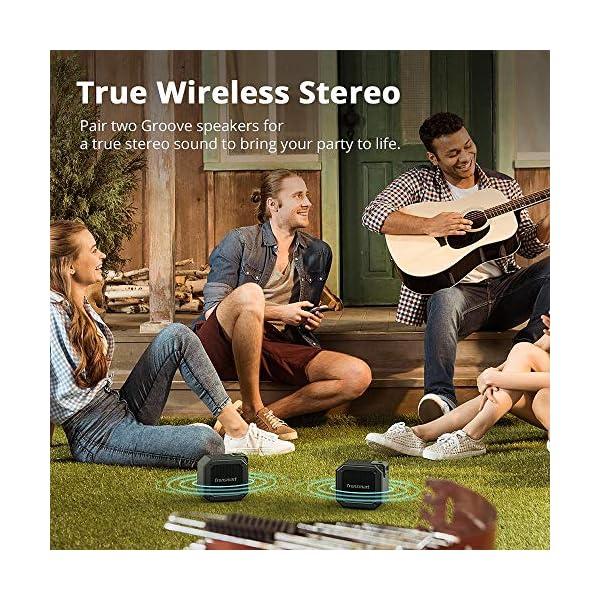 Enceinte Bluetooth Waterproof, Tronsmart Haut Parleur Bluetooth Portable, Autonomie 24H, Technologie TWS et Basses Puissantes, étanchéité IPX7, pour Téléphone et Tablettes, l'extérieur Les Voyages 4