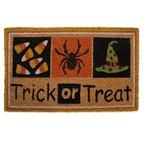Natural Coir Coco Fiber Non-Slip Outdoor/Indoor Halloween Doormat, 16X28