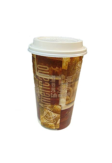 34a2ed88948 SafePro 20 oz Design Paper Cups with SOLO Cappuccino LIDS, Urban/Retro  Printed Hot Cups (Case of 100), Disposable Cups with lids