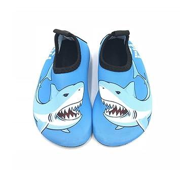 0075e7d5d09f Kids Water Shoes Toddler Boys Girls Quick Dry Skin Barefoot Aqua Socks  Shoes Slip-On for Yoga Beach Sport Swim Pool  Amazon.co.uk  Luggage