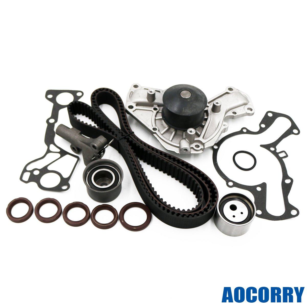 Aocorry Timing Belt Water Pump Kit Fits 91 99 Saturn Vue Mitsusbishi 3000gt Dodge Stealth 30l Automotive