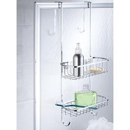 InterDesign Gia Estantería para Ducha, Estante para Colgar en Acero Inoxidable, repisa para baño, Plateado: Amazon.es: Hogar