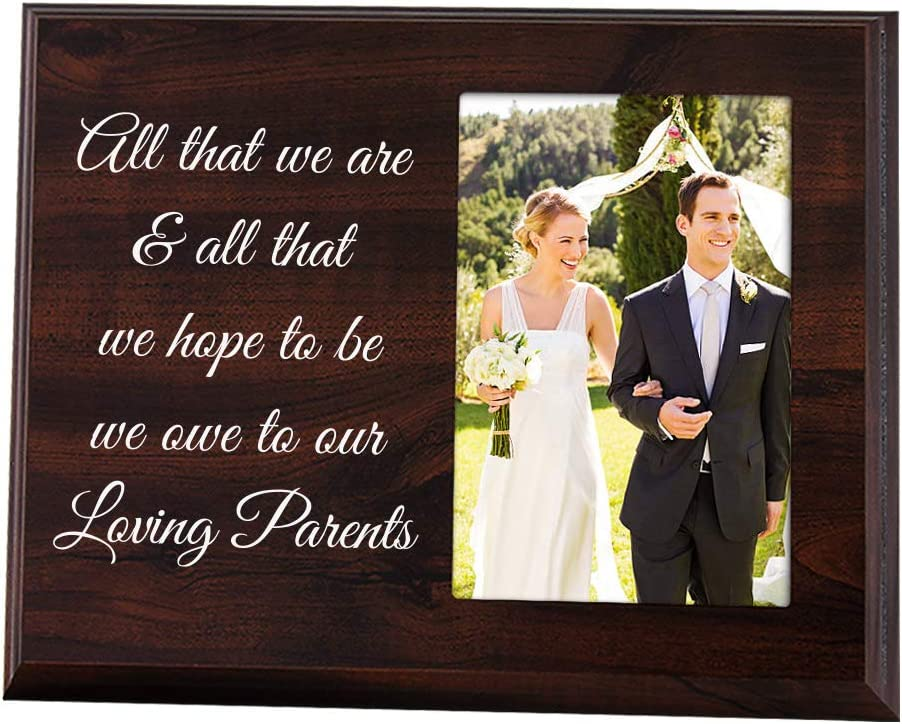 Wedding Frame Wedding Thank you for Parents Parents of the Groom Gift Mother /& Father of the Groom Wedding Thank You Groom Parent Gift