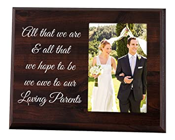 Amazoncom Elegant Signs Dad And Mom Wedding Gift From The Bride