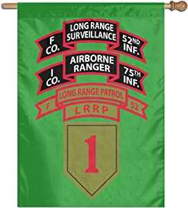 "1-75 RGR & F-52 LRP & 1st ID LRRP & 1st ID LRS Home Banner Flags Springtime 27""x37"" Decorative Garden Flag"