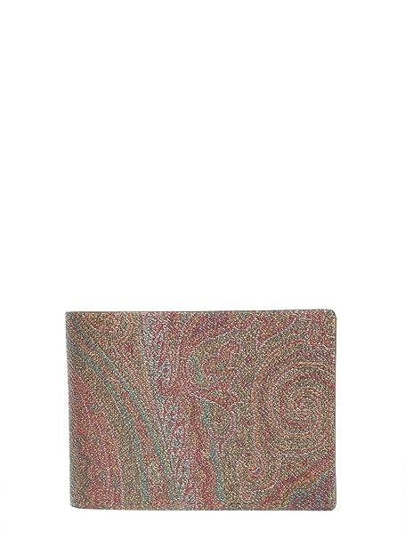new style 79e08 11b21 Etro Portafoglio Uomo 068888007600 Cotone Marrone: Amazon.it ...