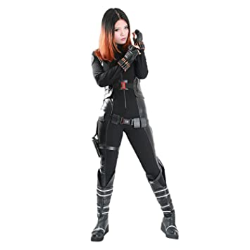 Amazon Com New Deluxe Black Widow Cosplay Costume Suits For