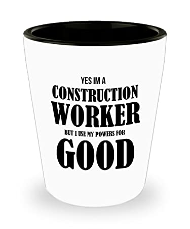 Best Shot Glass Coffee Mug-Construction Worker Gifts Ideas for Men and Women. Yes  sc 1 st  Amazon.com : gift ideas for construction workers - princetonregatta.org