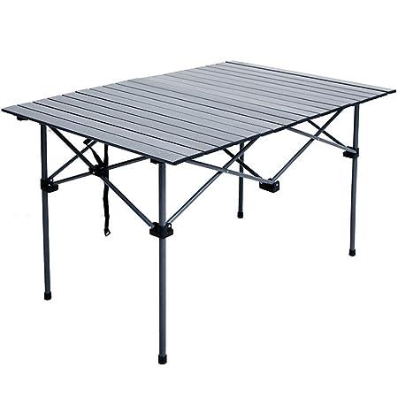 Alppq Aleación de aluminio Mesa plegable Salón Dormitorio Mesa de ...