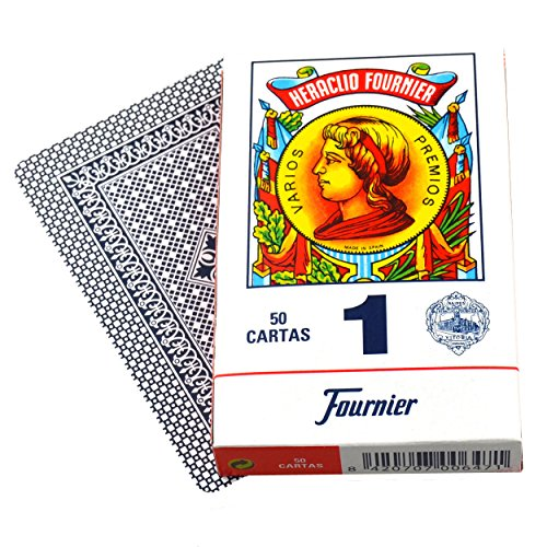 Educational Playing Card - N.H. Fournier S.A. Educational Products - Fournier 1-50 Spanish Playing Cards (Blue) - Real Spanish Playing Cards