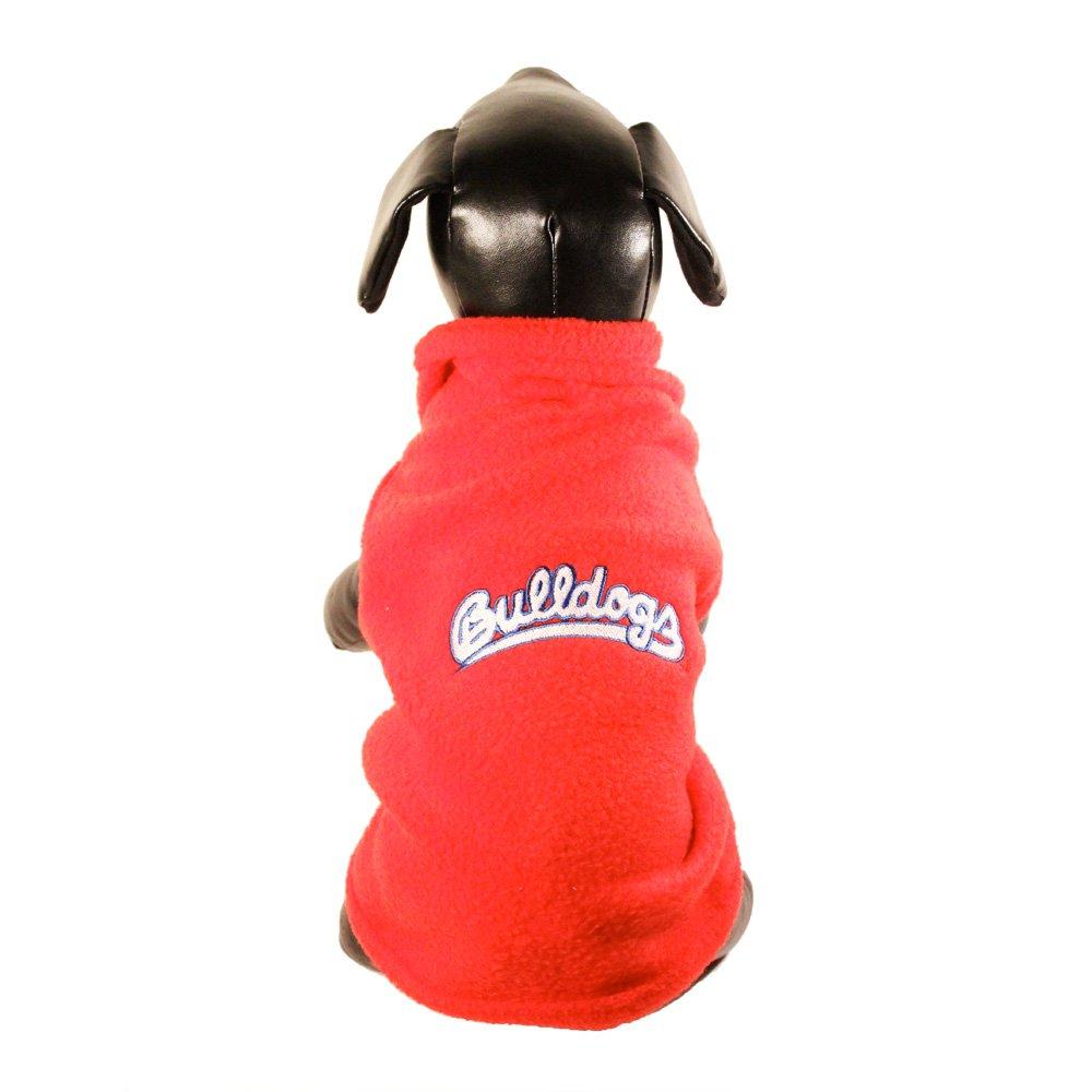 Small NCAA Fresno State Bulldogs Polar Fleece Hooded Dog Jacket