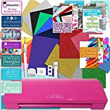 Silhouette Glitter Pink Cameo 3 Bluetooth Heat Transfer T-Shirt Vinyl Bundle with Siser Vinyl, Swatch Book, Guides, Class, Membership and More
