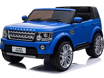 Amazon.com: Mini Moto Land Rover Discovery 12V Blue (2.4Ghz ...