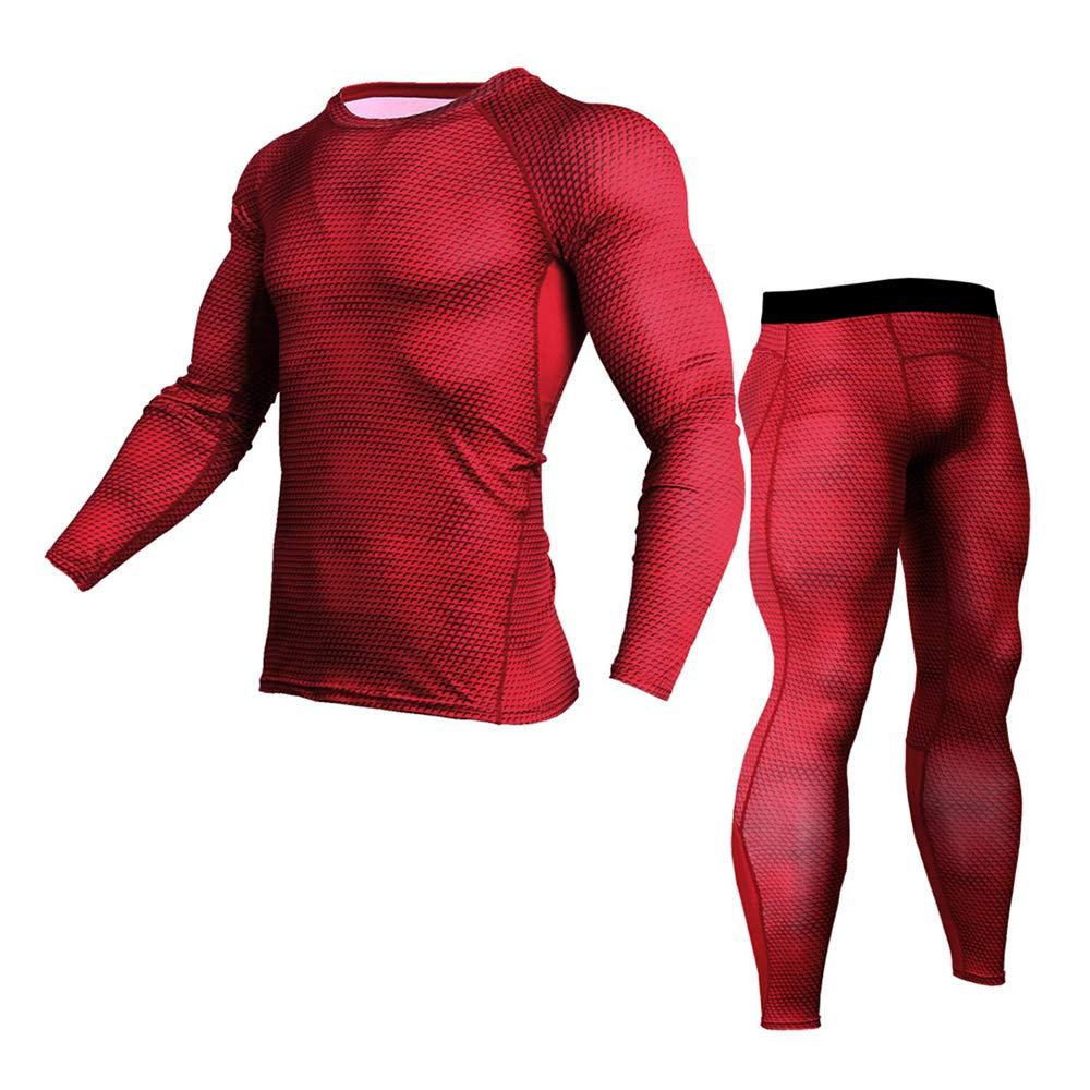 AFYH Pantaloni da Compressione da Uomo, Collant, Tute Fitness, Tute Elasticizzate, Sport/Sud / Quick Dry/Slim / Confortevoli, Materiale in Poliestere/Spandex, Liscio E Confortevole.