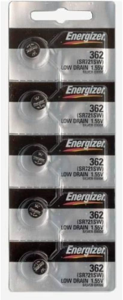 100 WATCH BATTERIES 362/362 SR721SW ENERGIZER Tools