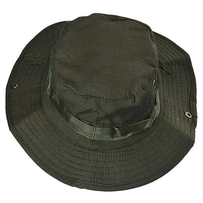 Hombres Cubo Sombrero Pesca Caza Pesca Al Aire Libre Gap Ancho Sombrero ala Especial Estilo Militar