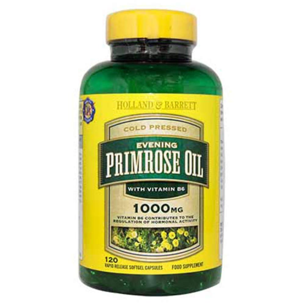 HOLLAND & BARRETT - Cold Pressed Evening Primrose Oil 1300mg - 60 Capsules - Health & Household - Vitamins & Dietary Supplements - Nourishes Skin - Alleviates Female Periodic Discomfort - Hong Kong