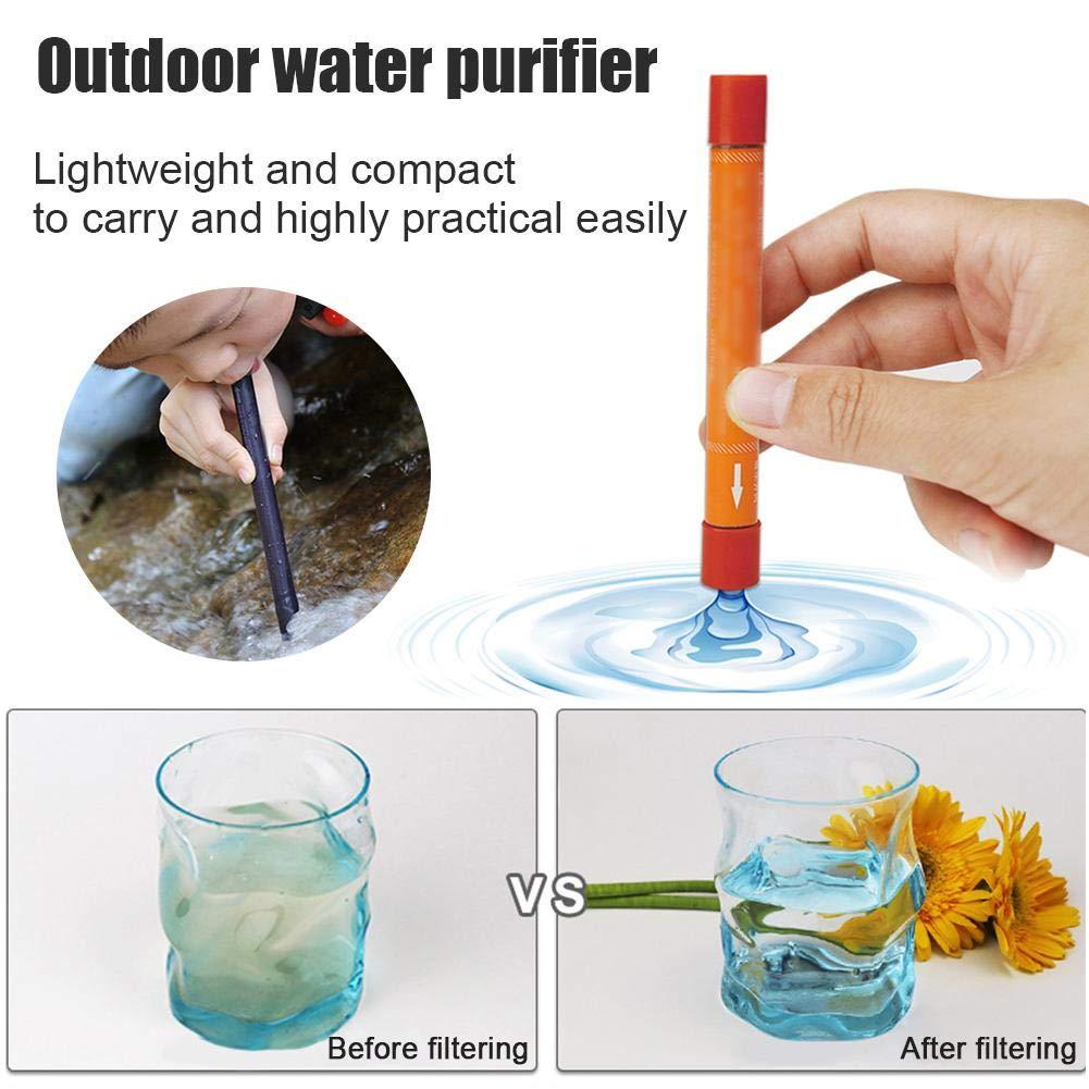 duhe189014 C3 Tasche wasseraufbereitungsrohr Stift Leben Notfall Stroh Outdoor Mini wasseraufbereitung tragbare sterilisation wasserfilter