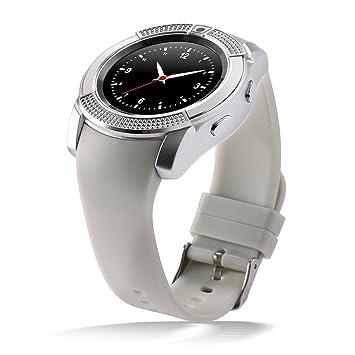 PINCHU V8 Bluetooth Relojes Inteligentes 1.22 Pulgadas Ronda Smartwatch Fitness Pulsera Cool Reloj Smart-Watch