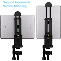 Ulanzi 2 in 1 Pad Tablet Tripod Mount Adapter for iPad Smartphone, Flexible Adjustable Clamp Tablet Holder for iPad Air Pro,Microsoft Surface and Most Tablets 5inch-12inch for iPad Pro iPad Air Mini