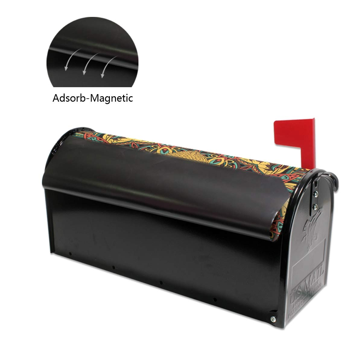Printedin3D Buddah Buddhism Buddhist Zen Art Magnetic Mailbox Cover for US Standard Size
