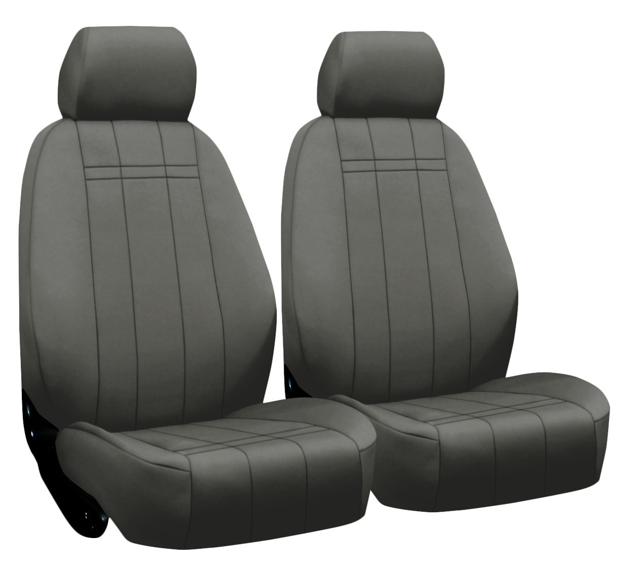 in Solid Black for Buckets w//Adjustable Headrests ShearComfort Custom Neoprene-Style Seat Covers for Toyota Tacoma 2016-2019 Front Seats