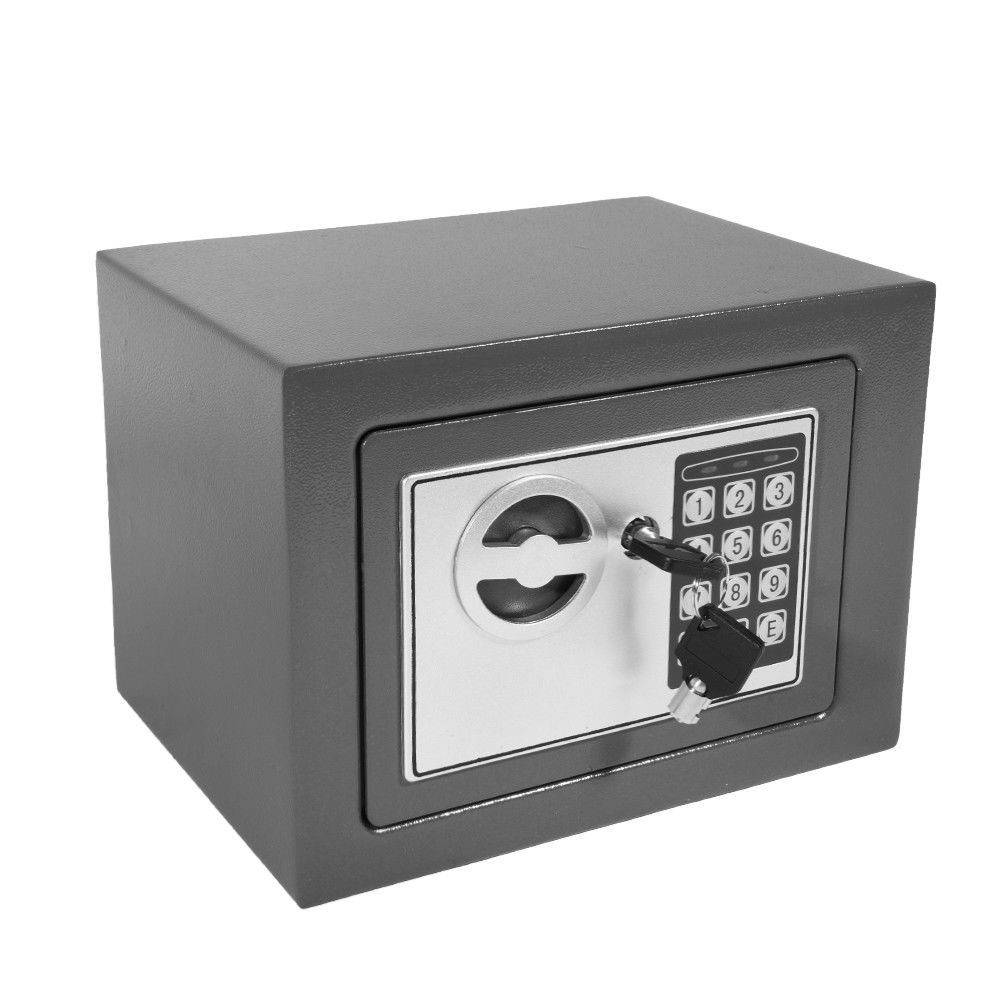 31cm x 20cm x 20cm, Black Wall or Floor Mounted 8.5L Office Digital Steel Safe Box Home Safe Box Digital Safe Box Waterproof Safes Home Mini