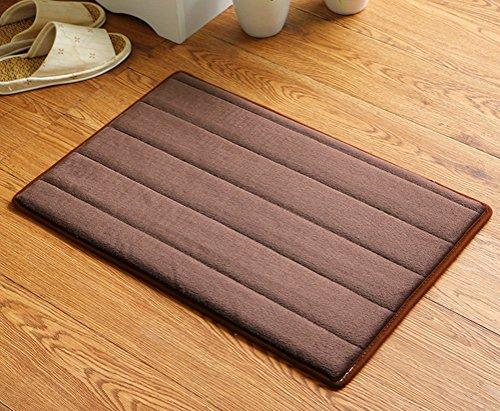 (Various Size Stripe Flannel Entryway Door ZebraSmile Carpet Entryway Door Rug For Restroom Home Entrance Door Carpet Entry Microfiber Doormat Indoor Carpet Bathroom Mat With Anti-slip Door Mat)