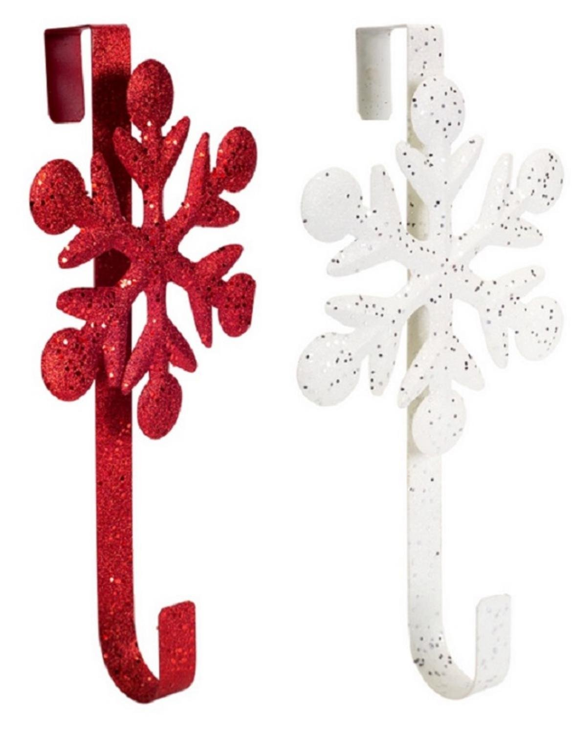 Club Pack of 12 Decorative Red and White Snowflake Christmas Wreath Door Hangers 18'' by Melrose