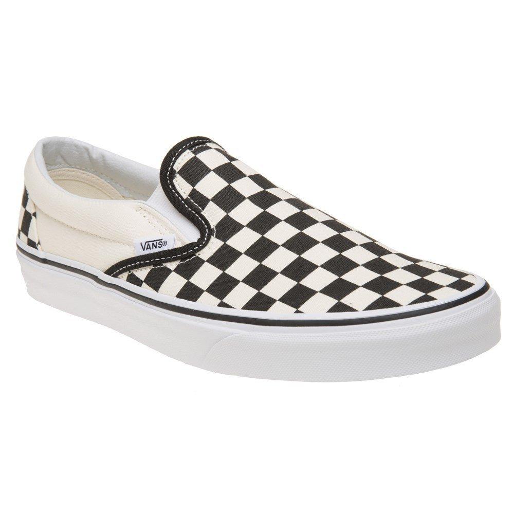 Vans Unisex Classic Slip-On (Checkerboard) Blk&whtchckerboard/Wht Skate Shoe 12 Men US