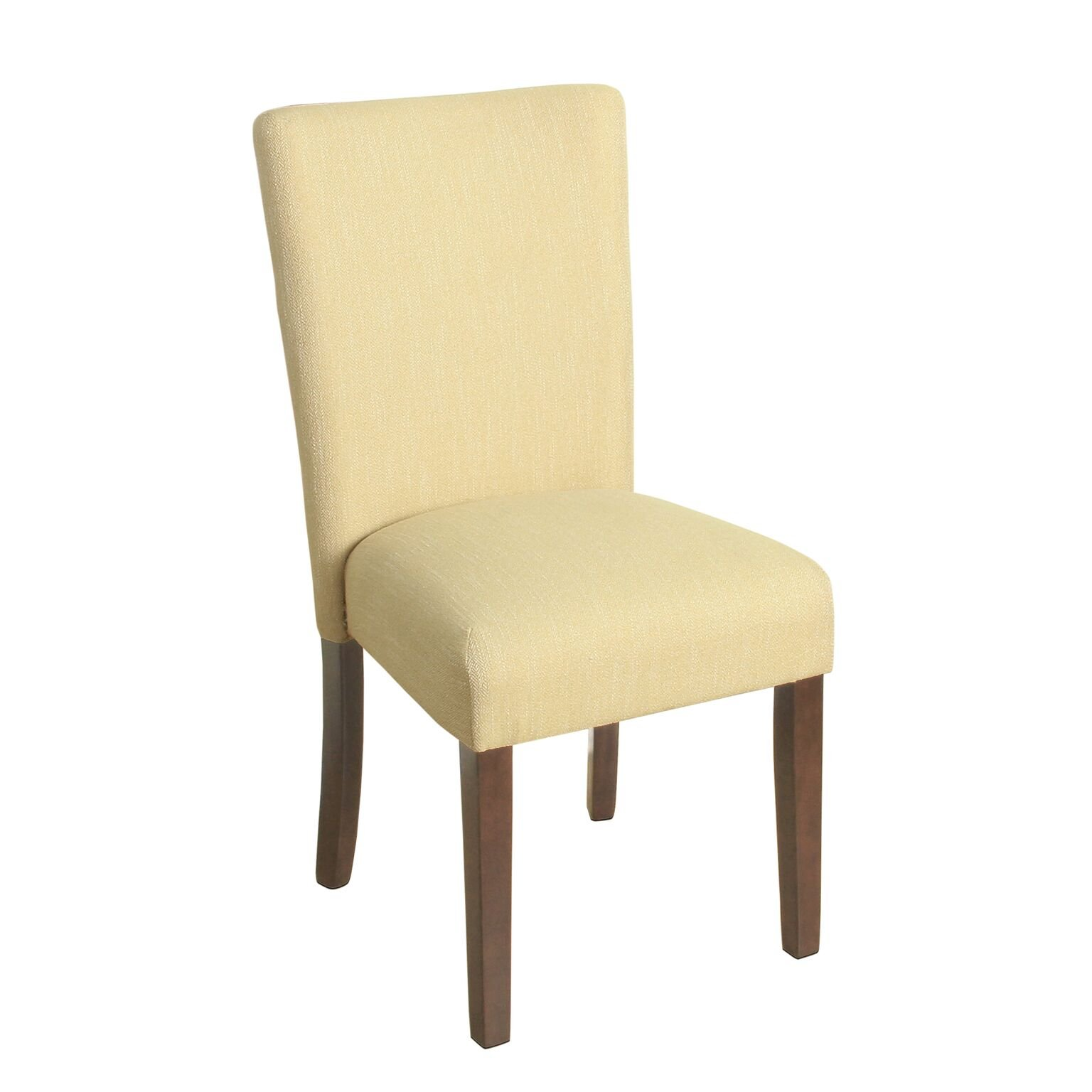 HomePop Parsons Classic Upholstered Accent Dining Chair, Single Pack, Yellow by HomePop
