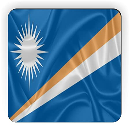 Rikki Caballero diseño de Bandera de Islas Marshall Cuadrado imán ...