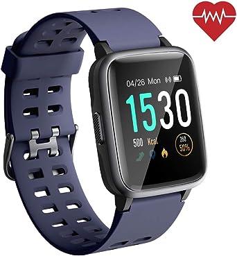 ANGGO Reloj Inteligente Mujer Hombre Smartwatch Niño Niña 5ATM ...