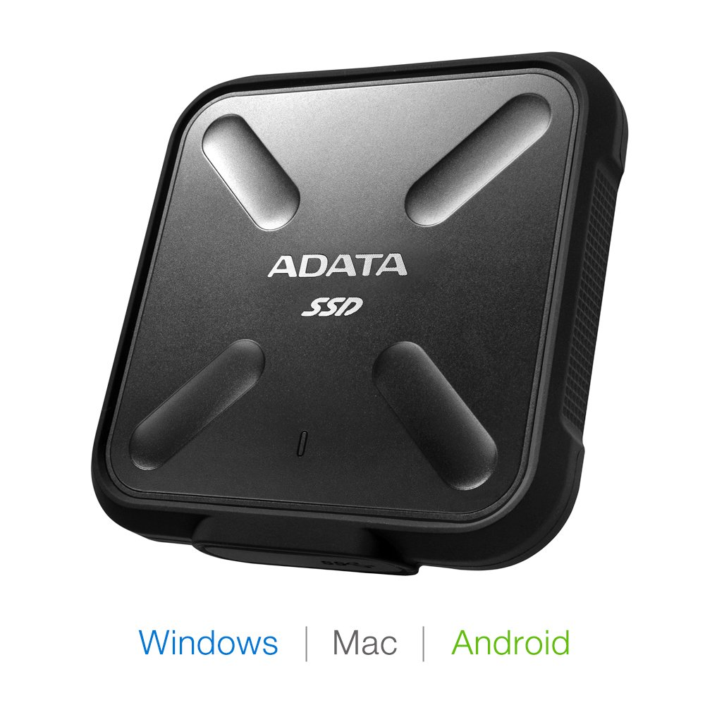 ADATA SD700 3D NAND 1 TB Ruggedized Water/Dust/Shock Proof External Solid State Drive Black (ASD700-1TU3-CBK) by ADATA (Image #3)